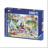 Пазл Карта Мира Диснея, 1000 элементов