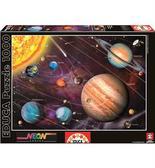 Пазл светящийся Солнечная система 1000 элементов