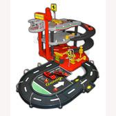 Игровой набор - ГАРАЖ FERRARI (3 уровня, 2 машинки 1:43) от Bburago (Бураго)