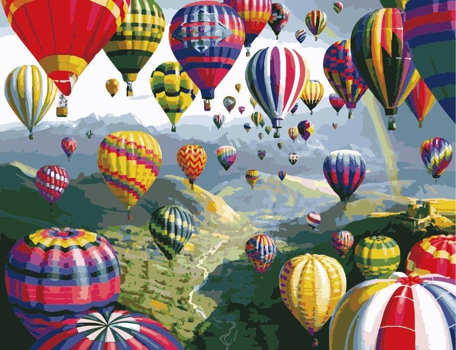 Разноцветные шары, 40х50см