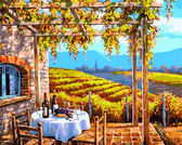 Виноградные сады, 40х50см