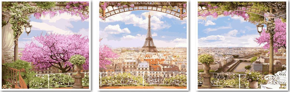 Весенний париж, 50х150см