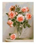 Кораловые розы, 40х50см