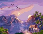 Закат в горах, 40х50см