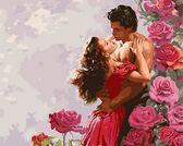 Влюбленные среди роз, 40х50см