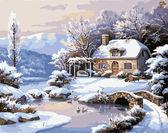 Зимний домик, 40х50см