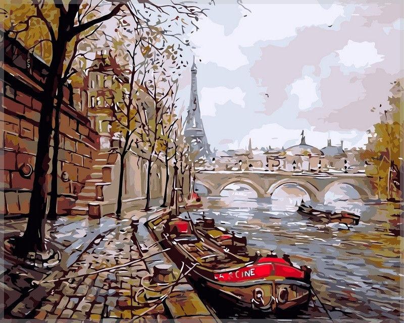 Набережная Парижа, 40х50см