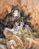 Волки, 40х50см