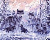Волчье семейство, 40х50см