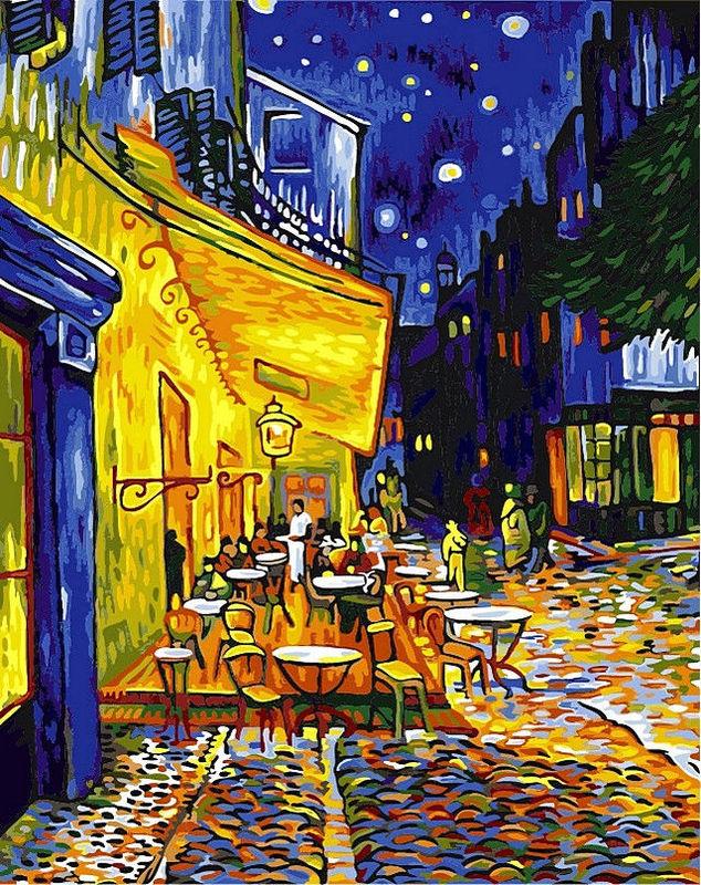 Ночная терраса кафе, 40х50см