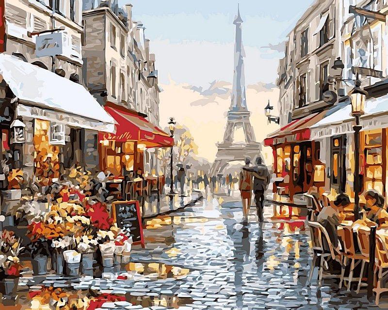 Париж после дождя, 50х65см