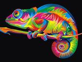 Радужный хамелеон, 30х40см