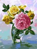 Букет с розовым пионом, 30х40см