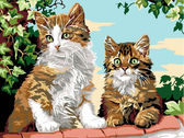 Котята на заборе, 30х40см