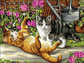 Котята в саду, 30х40см