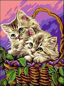 Котики в корзинке, 30х40см