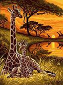 Маленький жираф, 30х40см