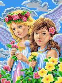 Девочки-ангелы, 30х40см
