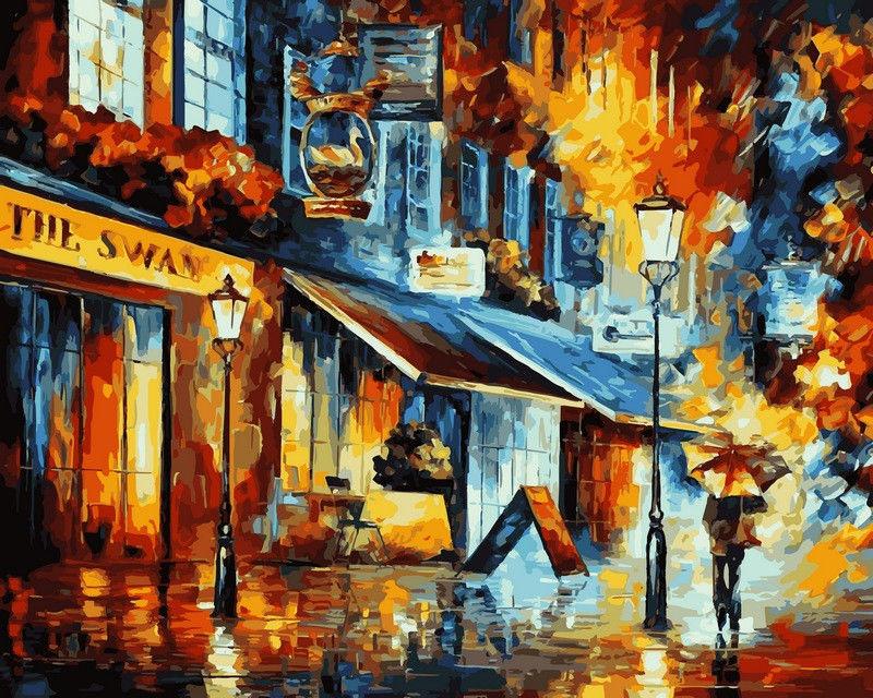 Дождливый вечер, 40х50см