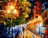 Прогулка вечерними улочками, 40х50см