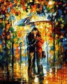 Поцелуй под зонтом, 40х50см