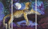 Триптих. Леопард. Ночной хищник, 50х80см