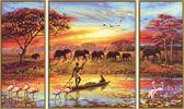 Триптих. Таинственная Африка, 50х80см