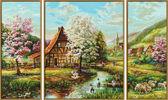 Триптих. Сельская жизнь, 50х80см