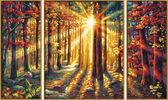 Триптих. Осенний лес, 50х80см