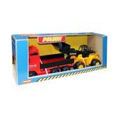 Автомобиль бортовой + трактор-погрузчик (в коробке) от Полесье