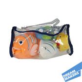 1757/4TR Набор для ванной в виниловой сумочке, 4 рыбки от Grow-Up