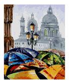 Яркие зонтики, 40x50см от Идейка