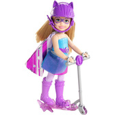 Кукла Челси с самокатом, серия Суперпринцесса, Barbie, Mattel, в фиолетовом