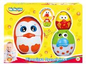 Детская игрушка Пирамидка-матрешка птенцы, BeBeLino, оранжевая птичка от BeBeLino (Бебелино)