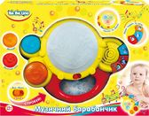 Музыкальный барабанчик (укр. упаковка), BeBeLino, бело-желтый от BeBeLino (Бебелино)