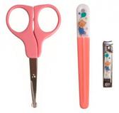 Маникюрный набор для малыша - ножницы, щипчики, пилочка, Nuby, розовый от NUBY (Нуби)