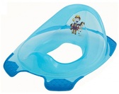 Прозрачная накладка с блестками на унитаз Prince, голубая, OKT от OKT