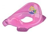Прозрачная накладка с блестками на унитаз Princess, розовая, OKT от OKT