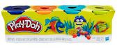 Пластилин - набор из 4 баночек, Play-Doh, синий, оранж., бирюза. желтый