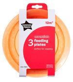 Тарелочки мелкие, набор из 3 штук, Tommee Tippee, оранжевый от Tommee Tippee(Томми Типпи)