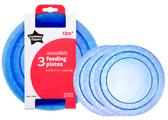 Тарелочки мелкие, набор из 3 штук, Tommee Tippee, синий от Tommee Tippee(Томми Типпи)