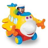 Развивающая игрушка - ВЕСЕЛЫЙ САМОЛЕТИК  (на колесах, свет, звук) от Kiddieland (Киддиленд)