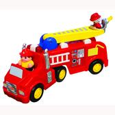 Развивающая игрушка - ПОЖАРНАЯ МАШИНА (на колесах, свет, звук) от Kiddieland (Киддиленд)