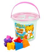 Волшебное ведерко - развивающая игрушка, 8 элементов, Тигрес, розовый от Тигрес