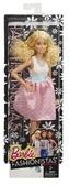 Кукла Barbie Модница в асс. (6) обновл . , Бело -розовое платье, бирюзовый пояс