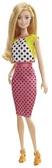 Кукла Barbie Модница в асс. (6) обновл . , Бело -розовое платье в горошек
