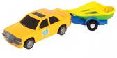 Игрушечная машинка, авто-мерс желтый с прицепом и лодкой, Wader, желтый с лодкой от Wader
