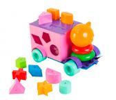 Тигренок - развивающая машинка-сортер, 21 элемент, Тигрес, розово-фиолетовый от Тигрес