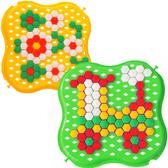 Развивающая игрушка Мозаика, желтая и зеленая, Тигрес, зелено-желтый от Тигрес