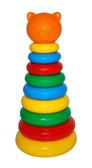 Игрушка развивающая Пирамидка, оранжевый от Тигрес